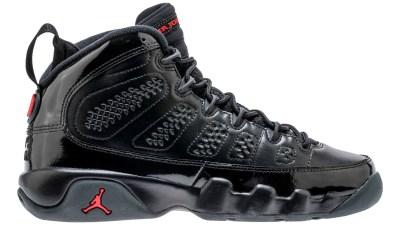 air jordan 9 black university red 3