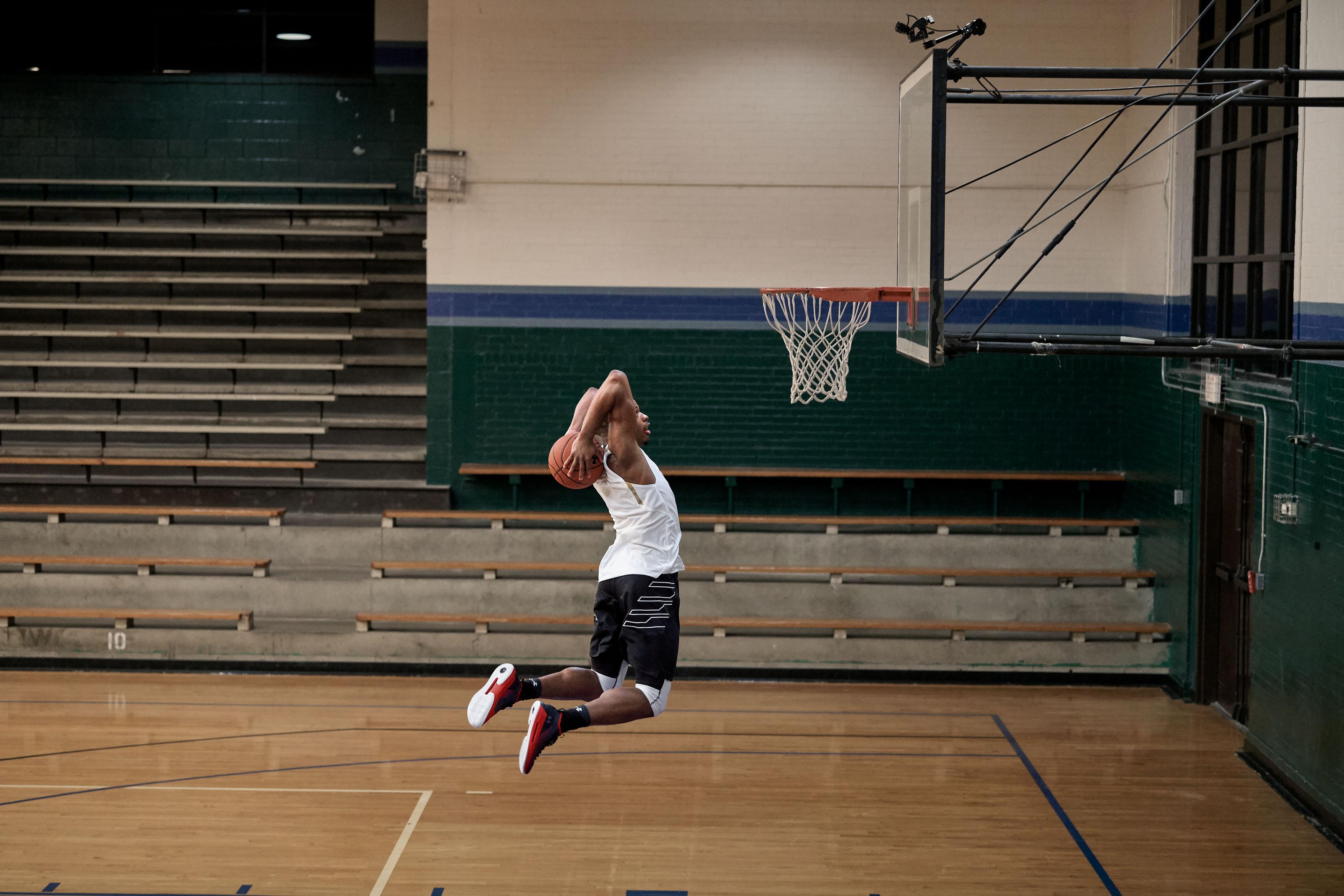 d9ebb0e32 dennis smith jr under armour heat seeker 2 · Basketball / Kicks On Court / Under  Armour ...