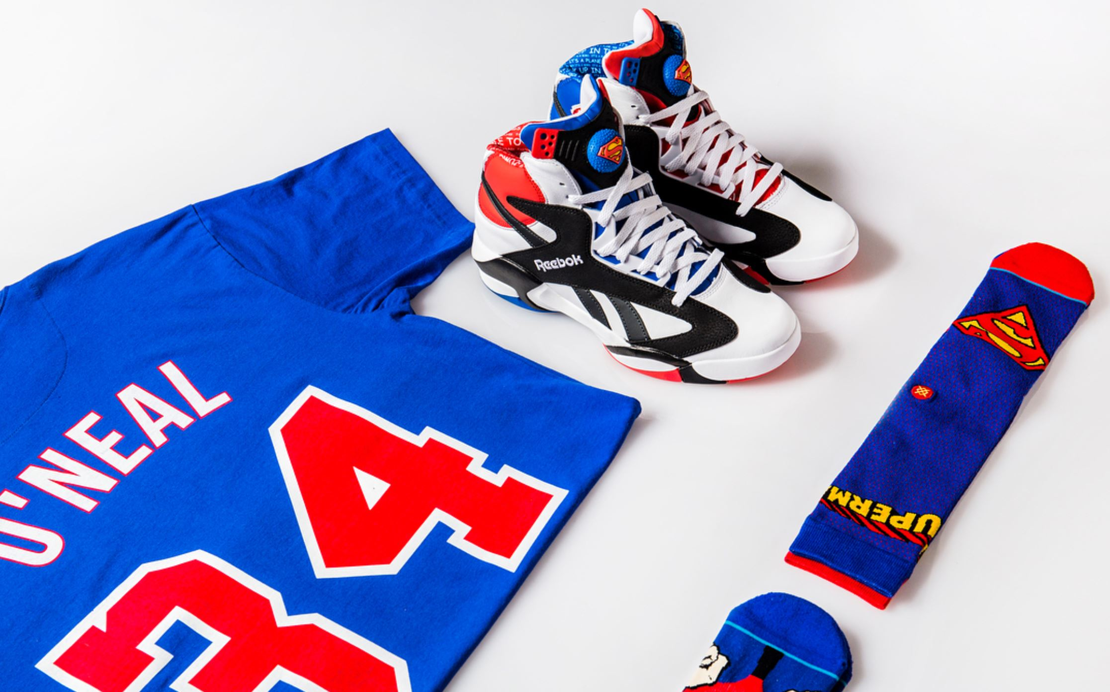 68c8c0e46b9 Shaq and Shoe Palace are Releasing a  Superman  Shaq Attaq Capsule ...