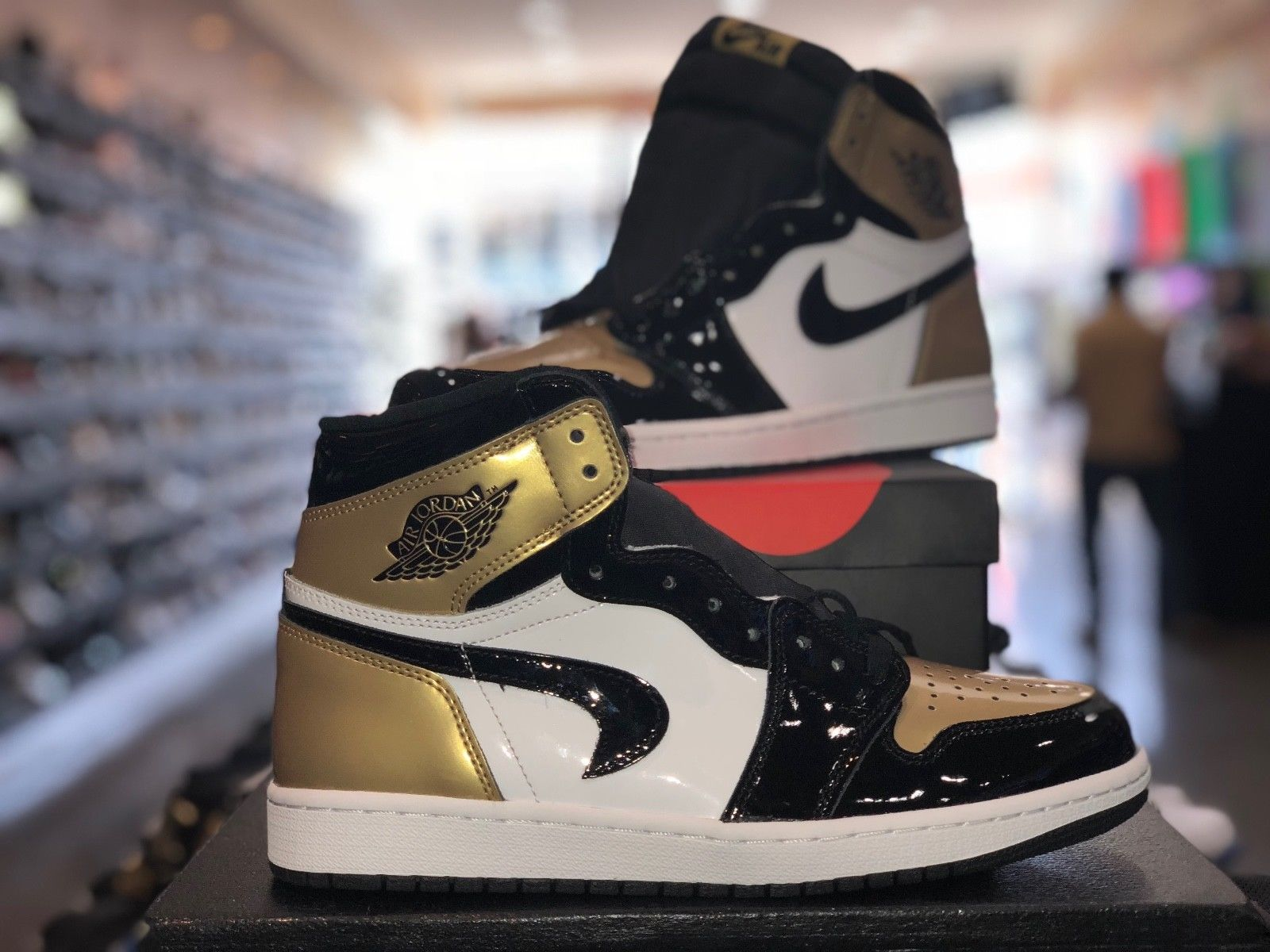 22628c55521eac Viral Air Jordan 1  Gold Toe  with Upside Down Swoosh Now Up for ...