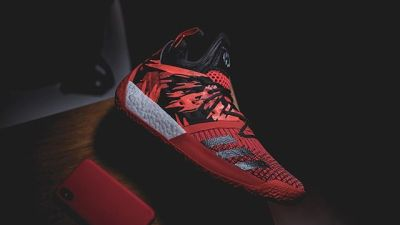 89585b9fa771 Upcoming adidas Harden Vol 2 in Black Scarlet Surfaces Online