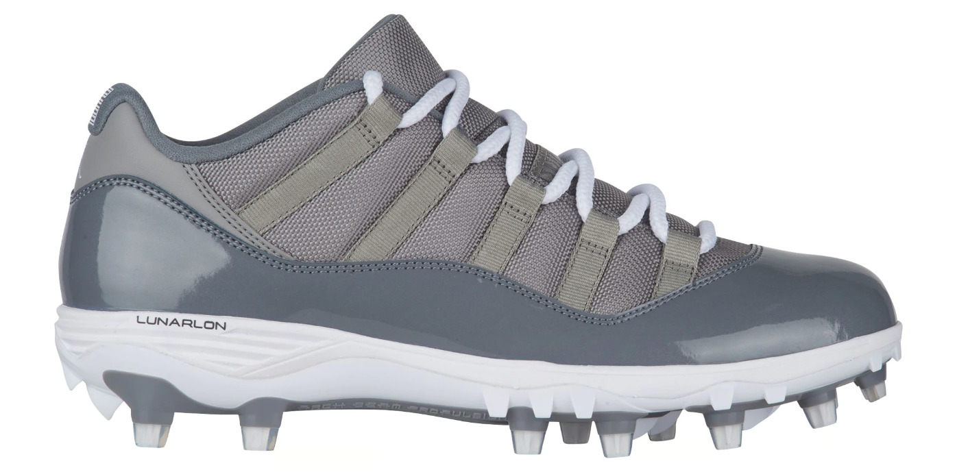 quality design b59fe 20410 ... best price air jordan 11 low cleat cool grey 1 65b3d c9fa7