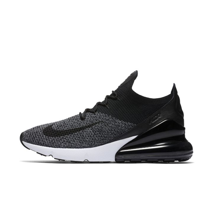 33e30772279c ... nike air max 270 flyknit black white mens 1 ...