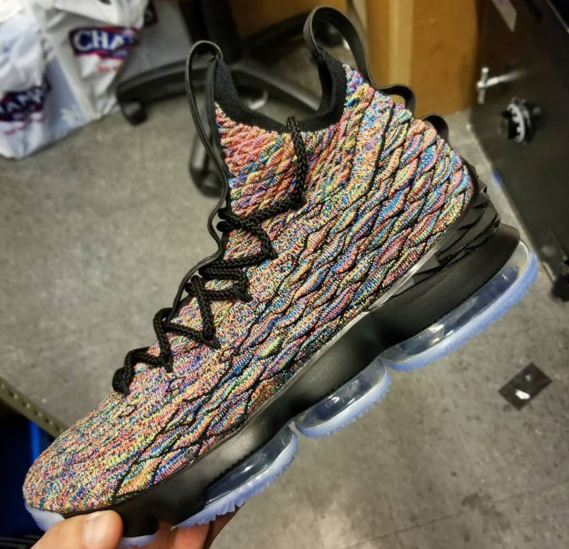 19ecff515b16 ... authentic nike lebron 15 multicolor black d53f0 c7c0f