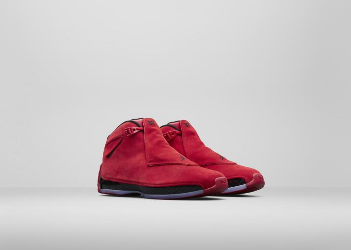 c0b8c1979d0 First off is the Air Jordan 18 'Toro Red', which might remind you of the 'Raging  Bull' Air Jordan 5 that dropped a while back. With a premium suede upper ...