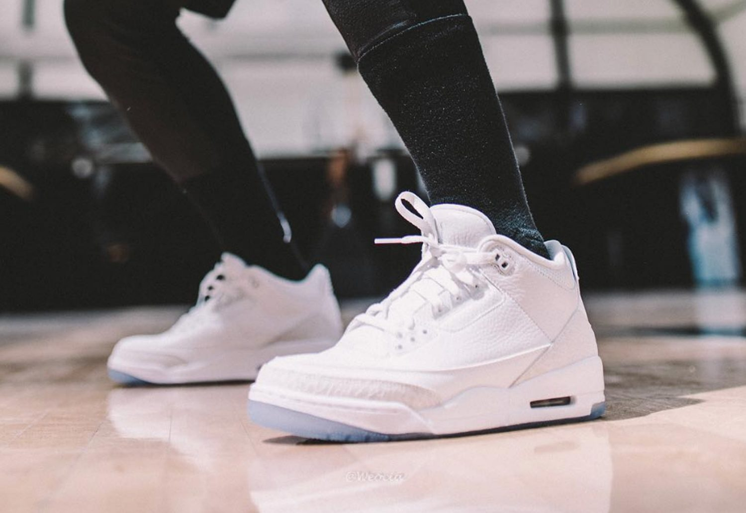 Air-Jordan-3-Pure-White-On-Foot-4 - WearTesters 5f6b63050