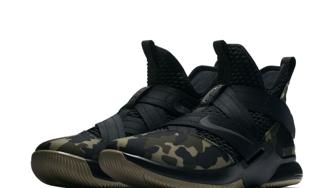 66b9b2ad3f9c The Nike LeBron Soldier 12  Camo  Is Now Available at Eastbay