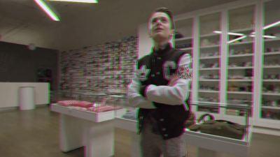 noah schnapp sneaker shopping