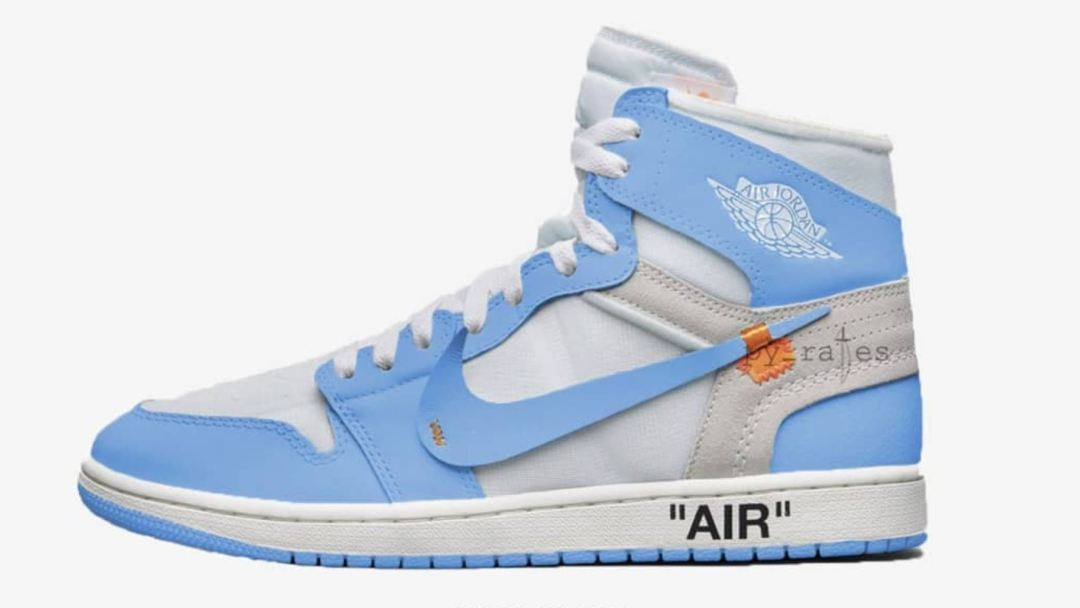 76722fc289ec The Off White Air Jordan 1  UNC  Has a Release Date - WearTesters