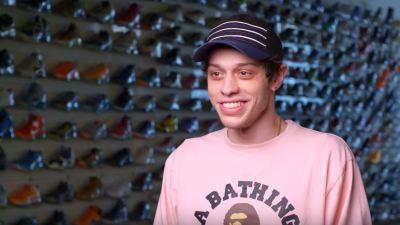 pete davidson sneaker shopping
