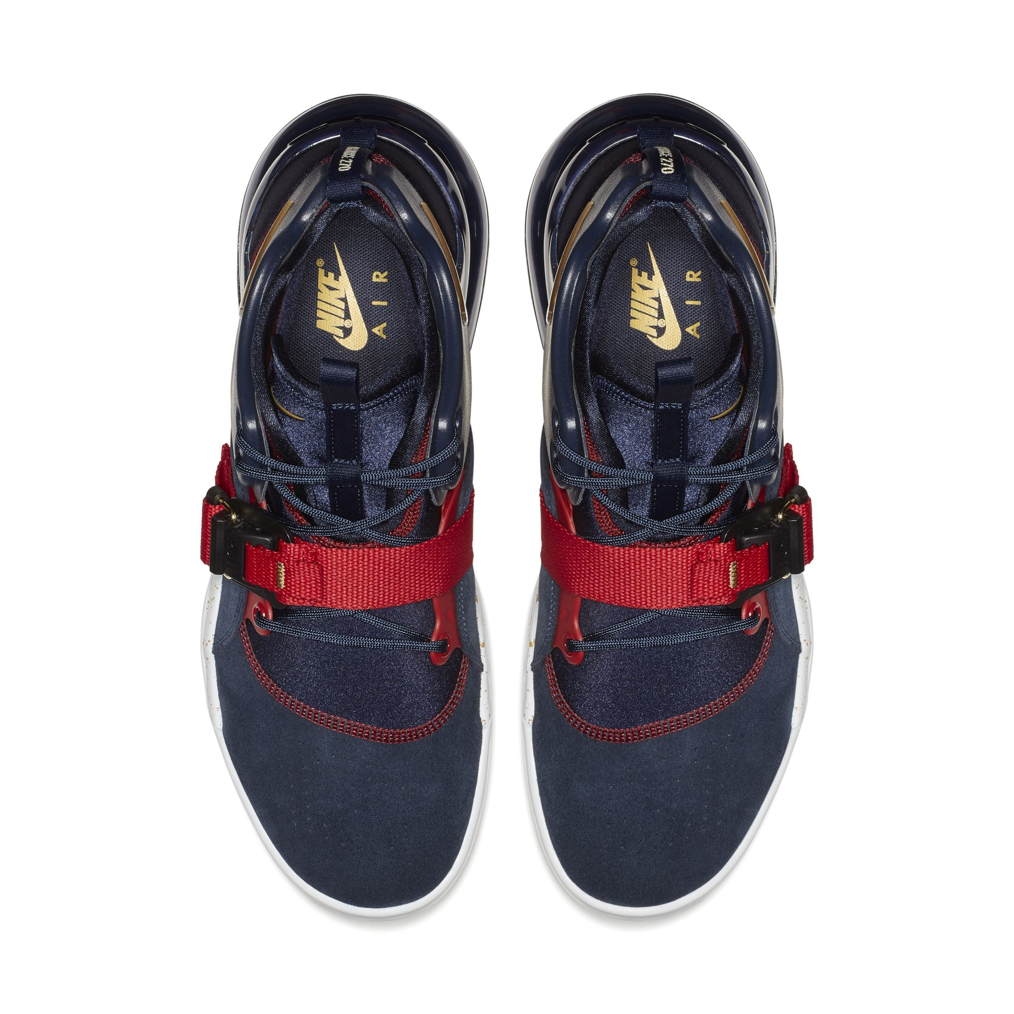 lowest price 26cd2 b40f9 NIKE AIR FORCE 270 OBSIDIAN METALLIC GOLD-GYM RED-WHITE 2