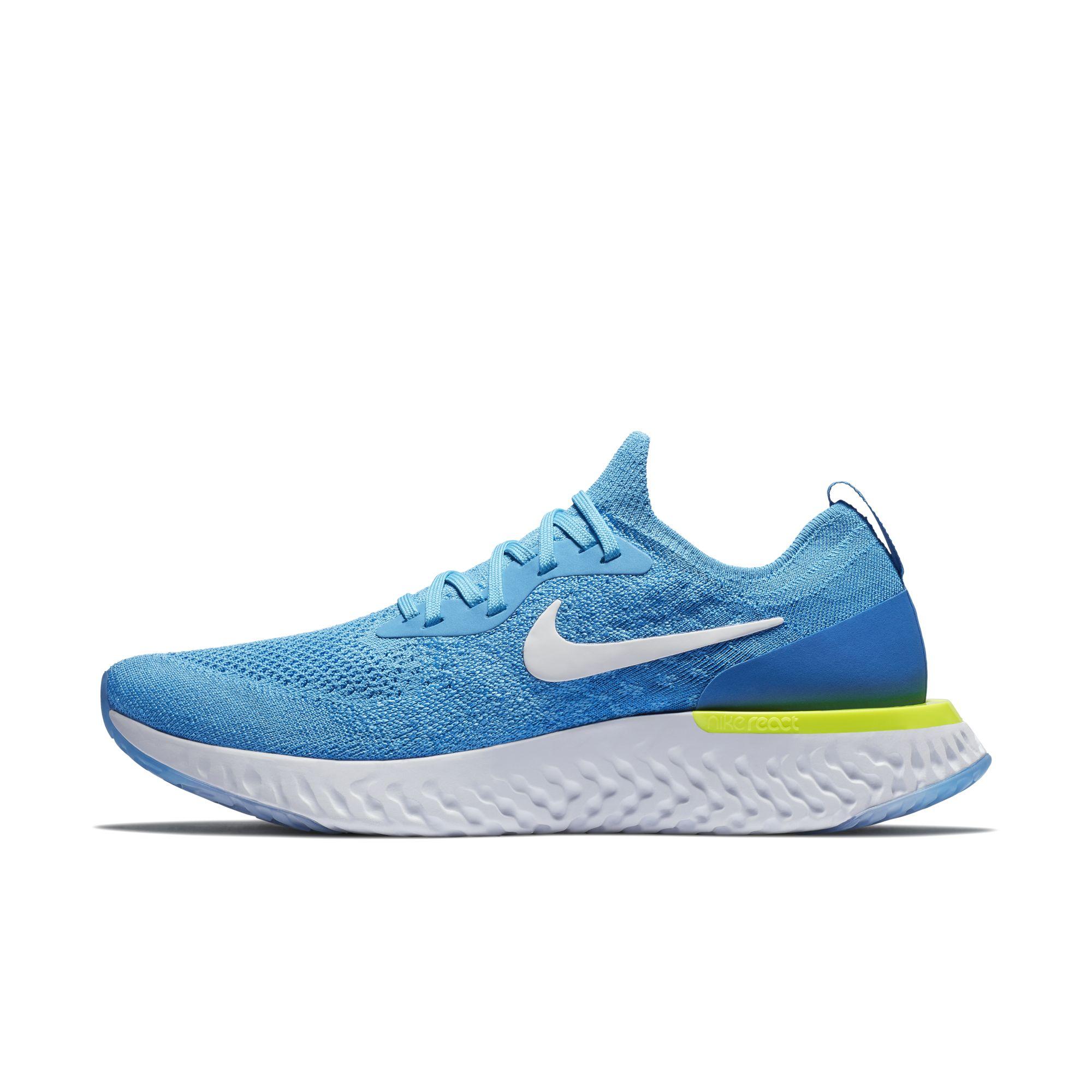 Nike PerformanceODYSSEY REACT - Neutral running shoes - photo blue/white/black/volt Zm1bYKn