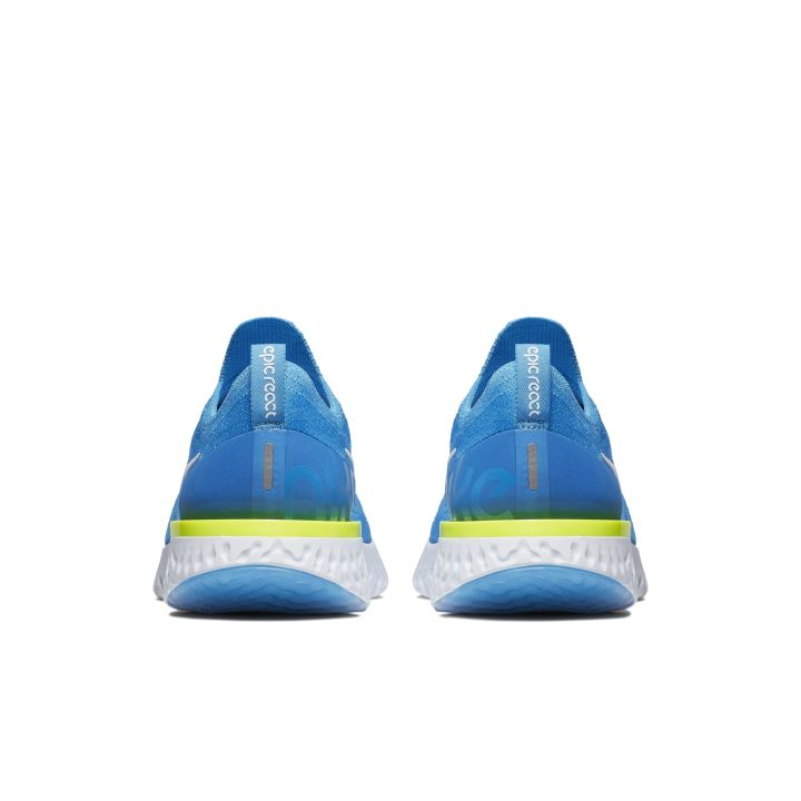 NIKE EPIC REACT FLYKNIT BLUE GLOW:WHITE-PHOTO BLUE-VOLT GLOW 4