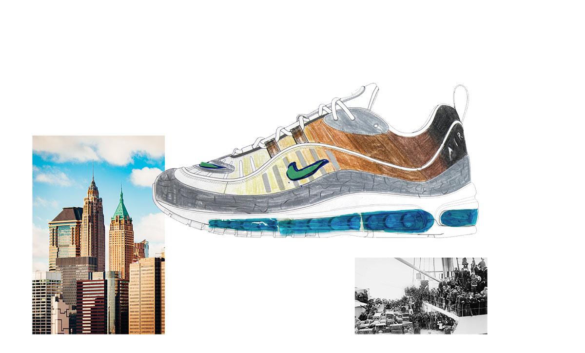 online retailer fa1c4 5a1e9 Nike on air voting NYC air max 98 la mezcla gabriella serrano 1