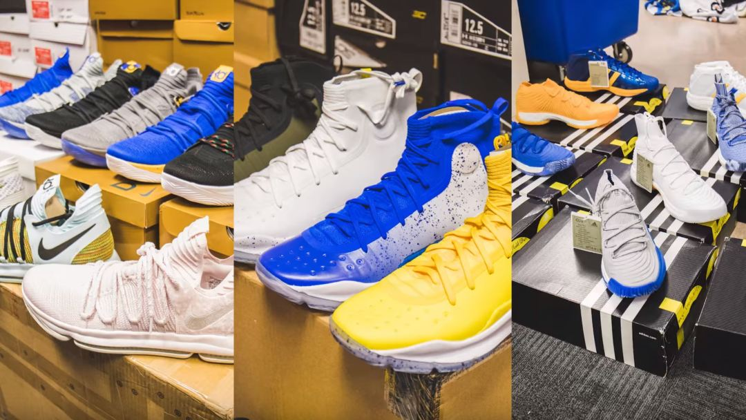 94abc608fd2f You Won t Believe How Many Sneakers the Golden State Warriors Travel ...
