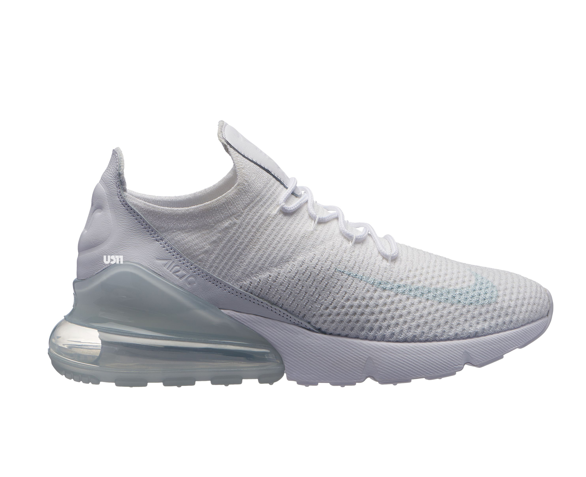 a2895339d62a nike air max 270 flyknit triple white - WearTesters