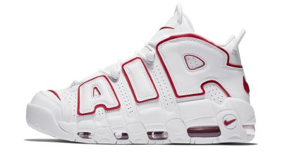 5956b9323 Release Reminder  The OG Nike Air More Uptempo  White Varsity Red  Drops  Next Week
