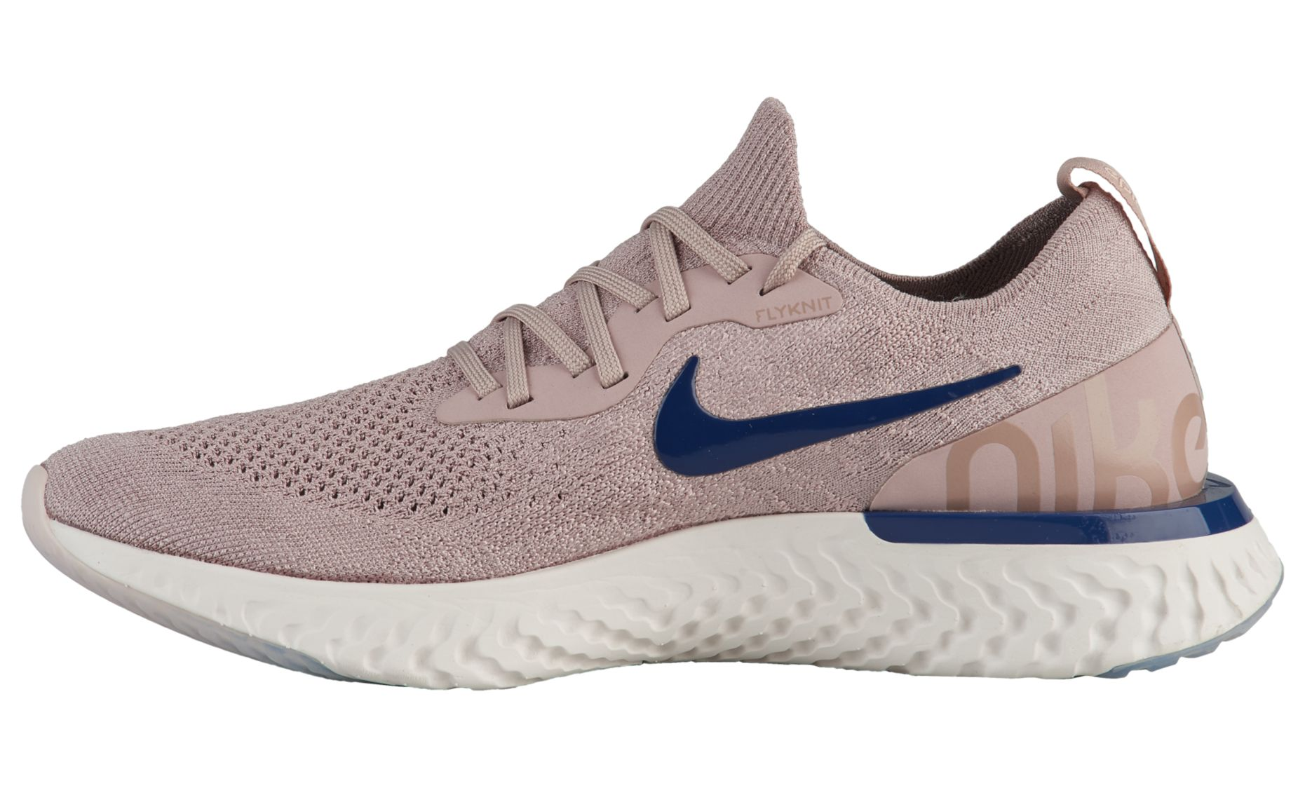 ce283e4de7392 NIKE EPIC REACT FLYKNIT DIFFUSED TAUPE   BLUE VOID - PHANTOM 1 ...