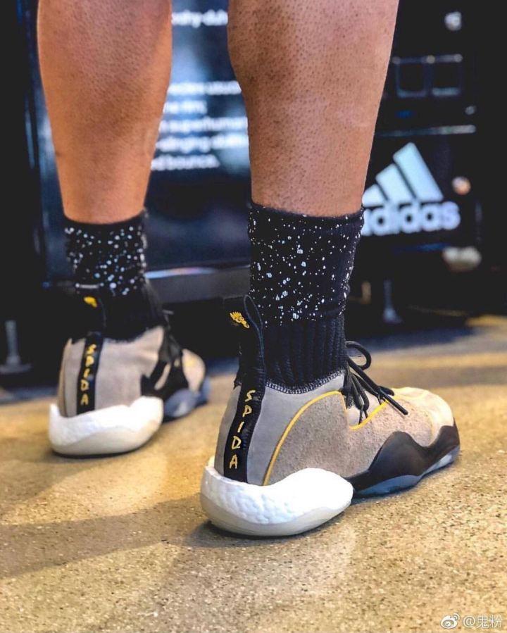 donovan mitchell spotted in premium adidas byw x spida pe