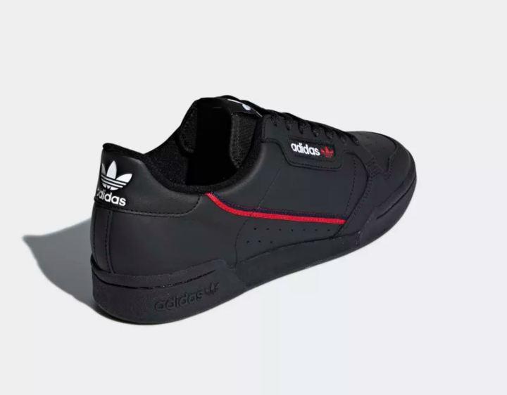 adidas continental 80 black 2