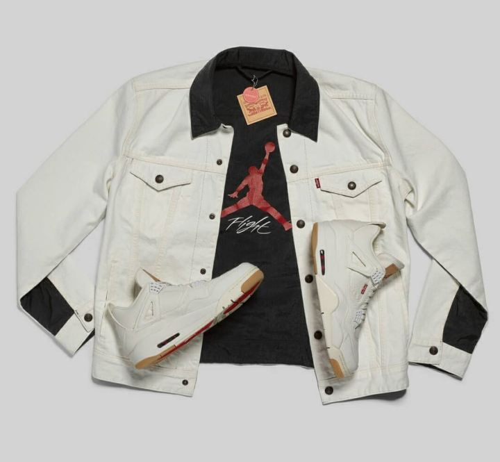 levis air jordan 4 white jacket