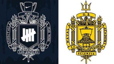 nike undefeated logo US Naval Academy