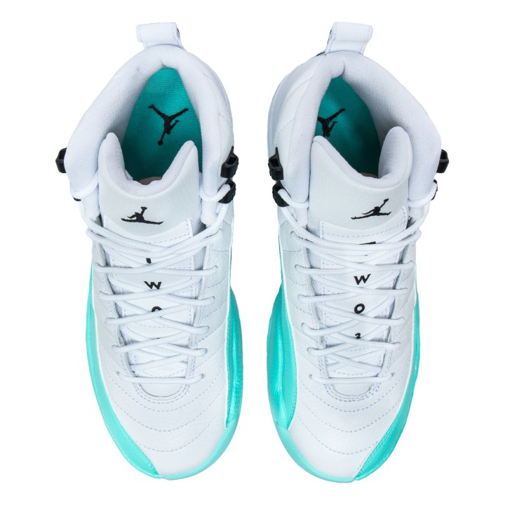 AIR JORDAN RETRO 12 GG WHITE:BLACK-LT AQUA 4
