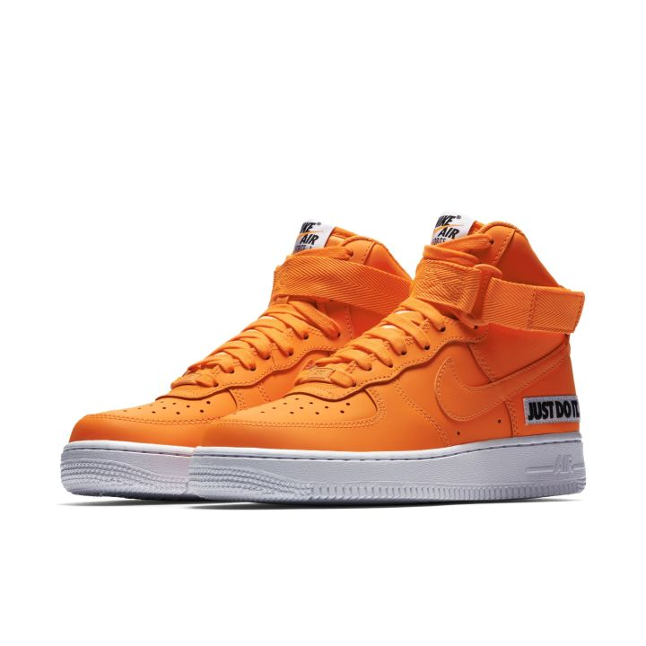 NIKE WMNS AIR FORCE 1 HIGH LX LEATHER TOTAL ORANGE WHITE 1