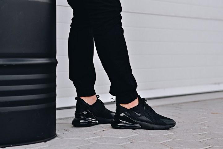 Nike air max 270 triple black on foot