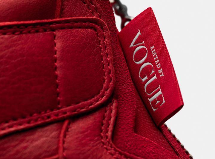 Vogue air jordan 1 Zip AWOK university red