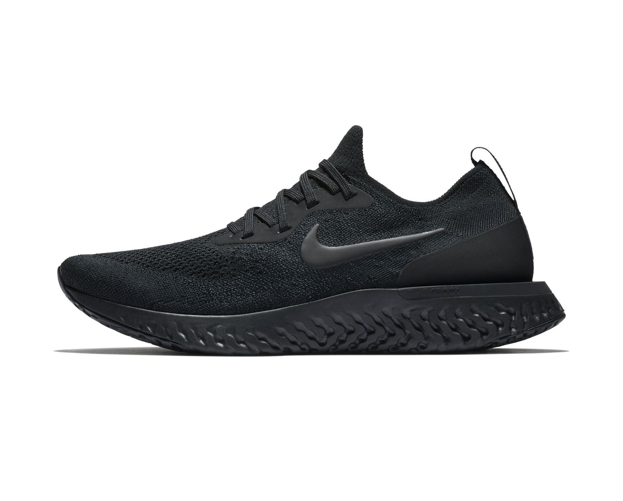 61ec6e0ff289 The Nike Epic React Flyknit  Triple Black  Has Dropped Overseas ...