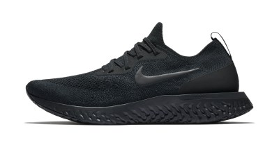 93f1c817e72 The Nike Epic React Flyknit  Triple Black  Has Dropped Overseas