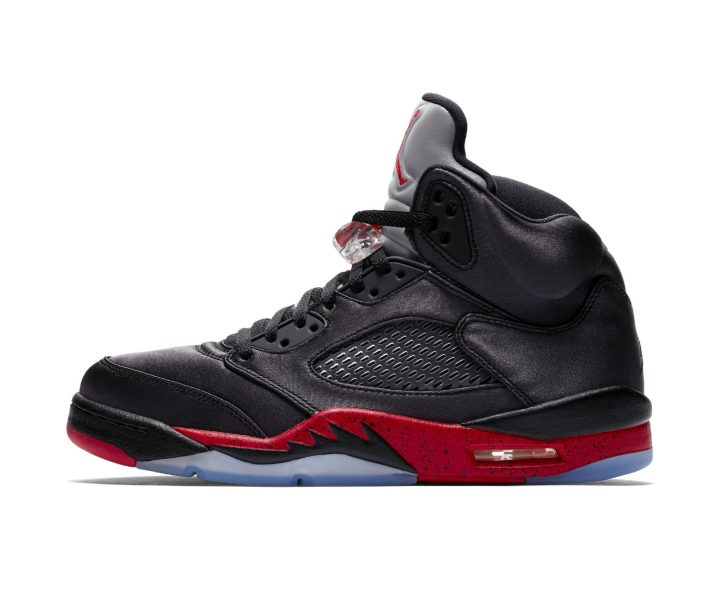satin air jordan 5 bred
