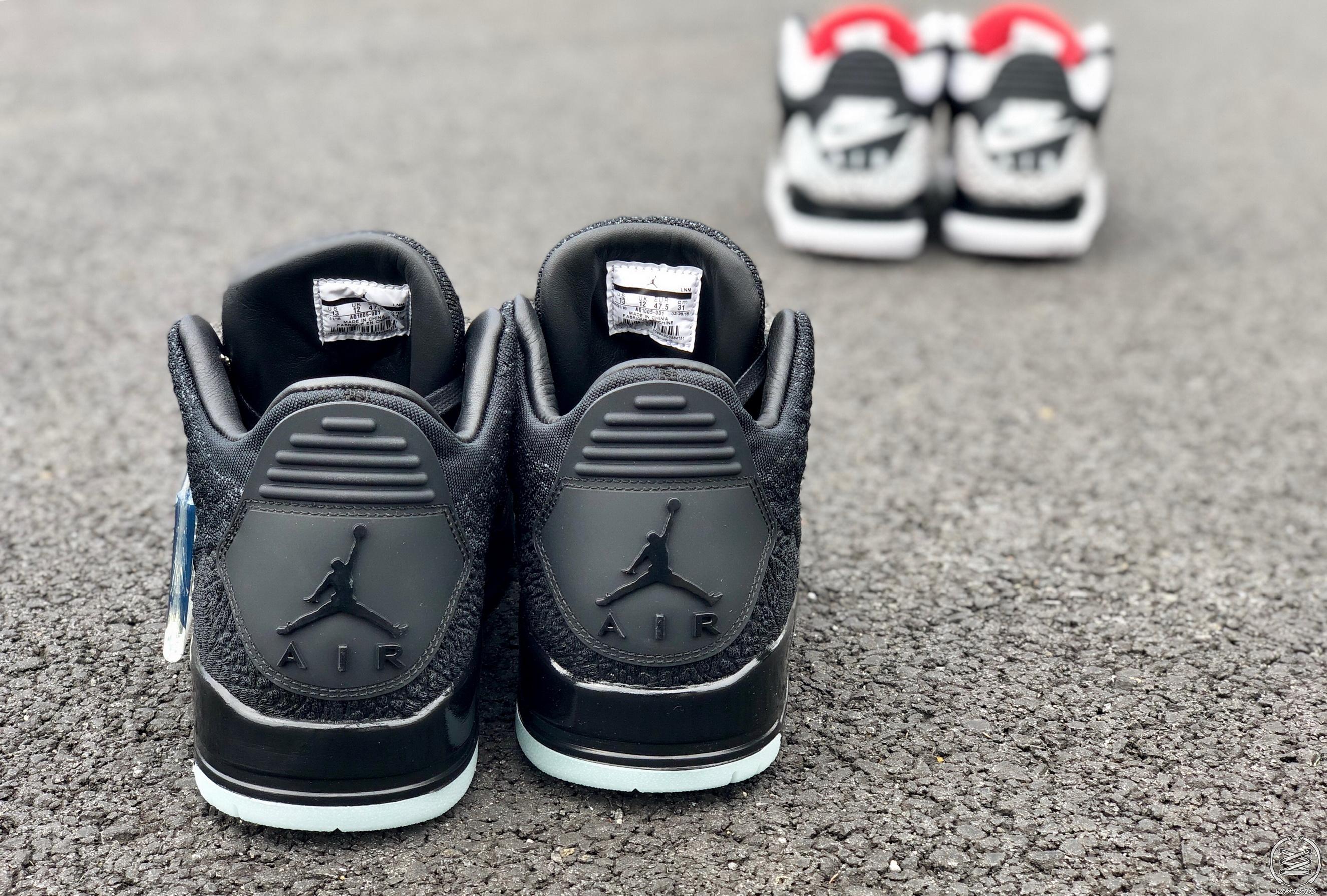 327cbd9b56a1 Air Jordan 3 Flyknit detailed look stanley t weartesters heel ...