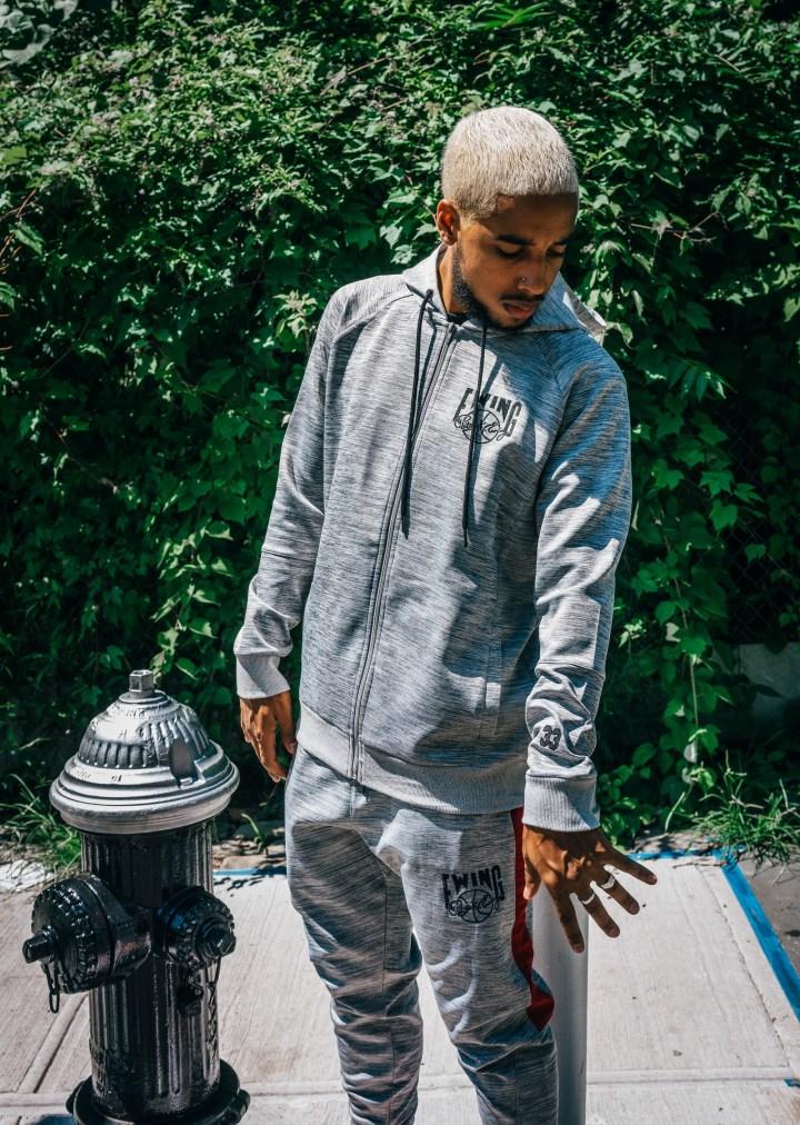 Ewing Athletics sweatshirt sweatpants grey