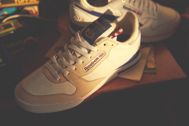 da40264a763 The Footpatrol x HAL x Reebok Phase One Pro opts for a white upper with  cream overlays. Like the Classic Leather Clip