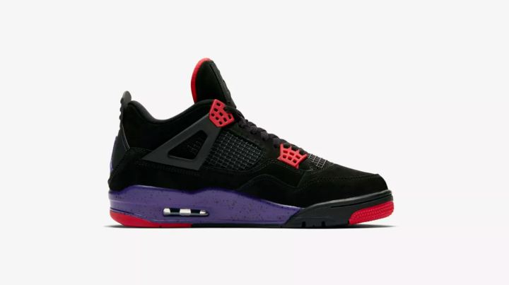 air jordan 4 nrg raptors black court purple
