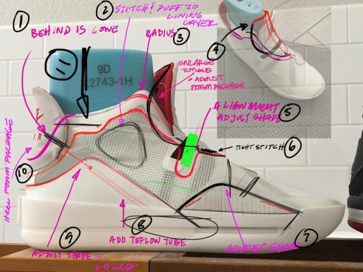 air jordan 33 design sketch
