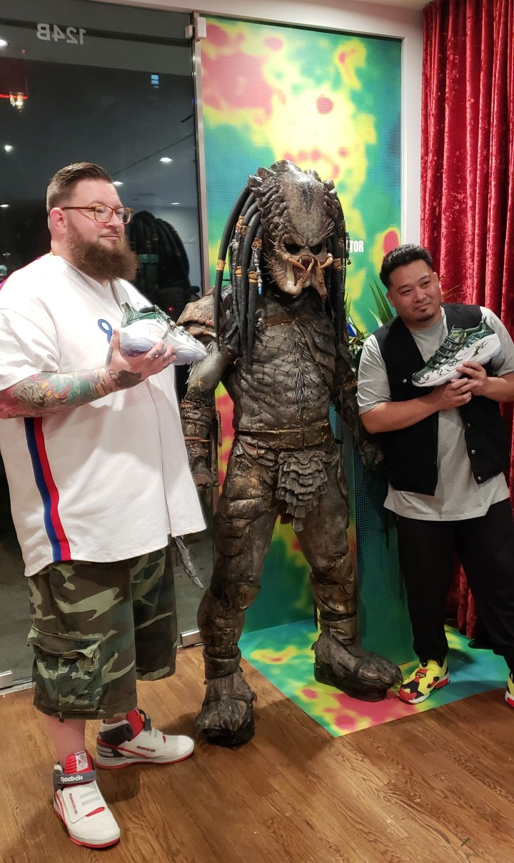 chris hill bernie gross extra butter predator launch event