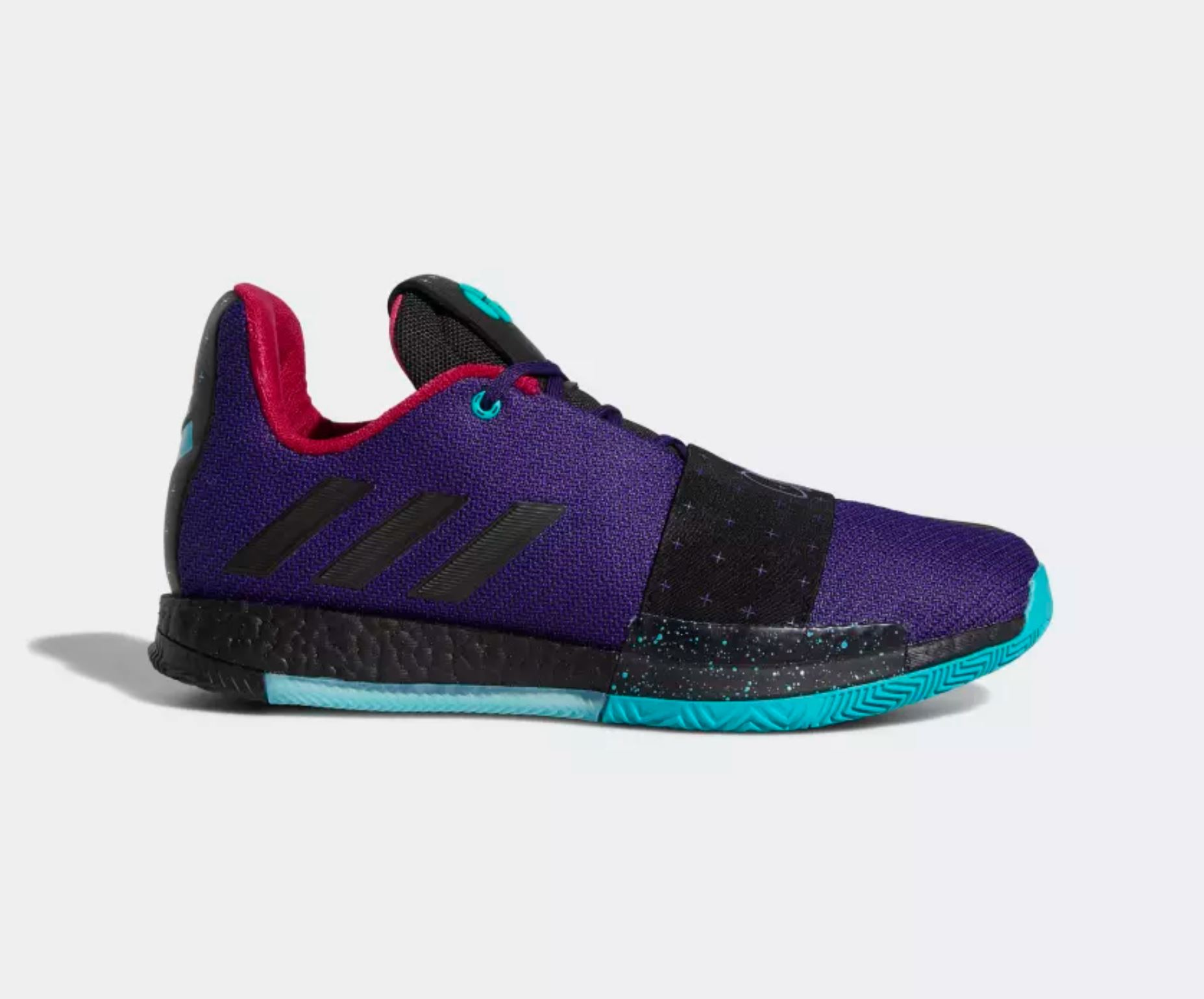 8f65ddb6379 James Harden s adidas Harden Vol 3 Has Dropped in  College Purple ...