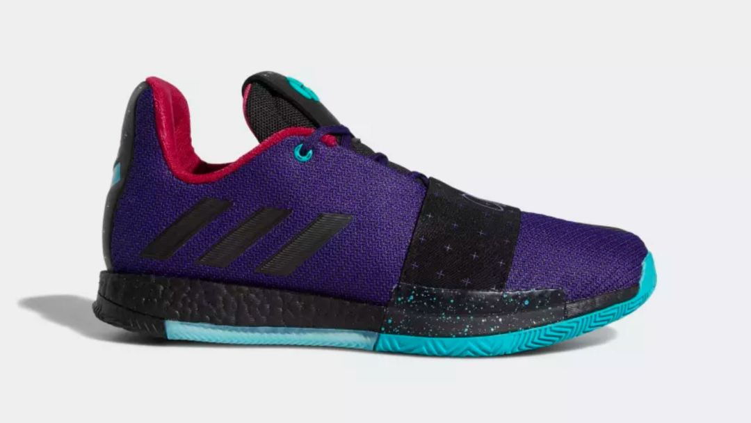 52ed325504af2 James Harden s adidas Harden Vol 3 Has Dropped in  College Purple ...