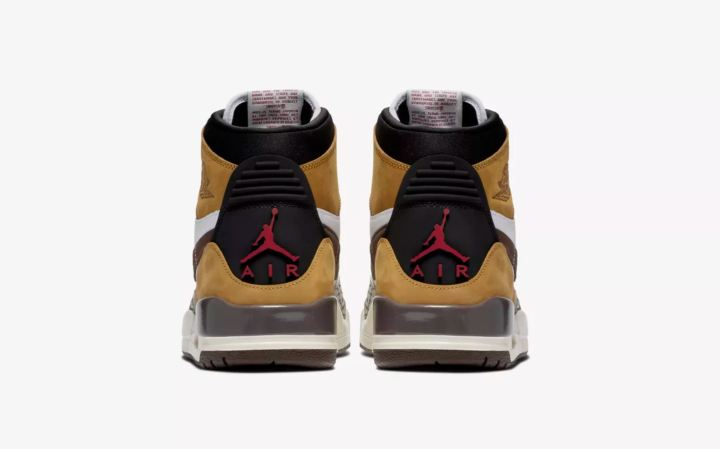 air jordan legacy 312 wheat varsity red heel