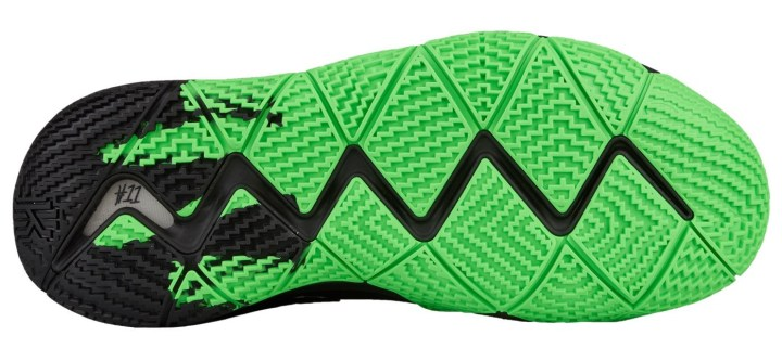 nike kyrie 4 rage green outsole