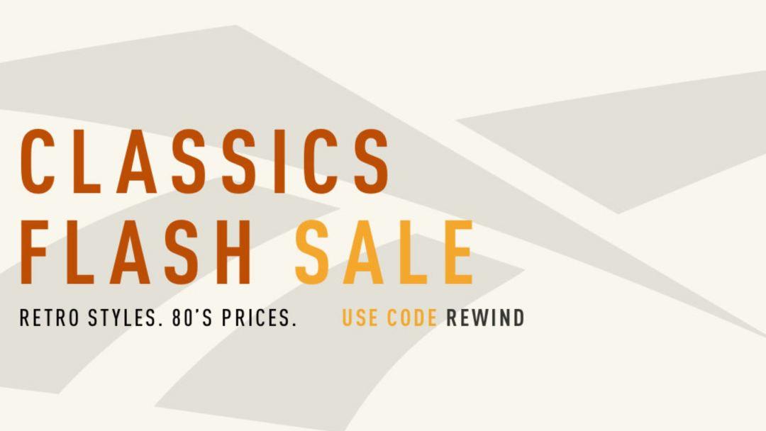reebok classic flash sale