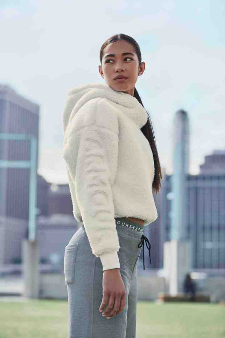 under armour ua exclusives be seen fw18 sherpa crop