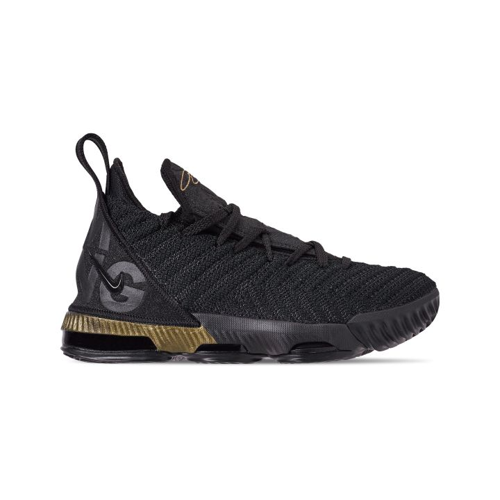 NIKE LEBRON 16 GS I'M KING BLACK : METALLIC GOLD 2