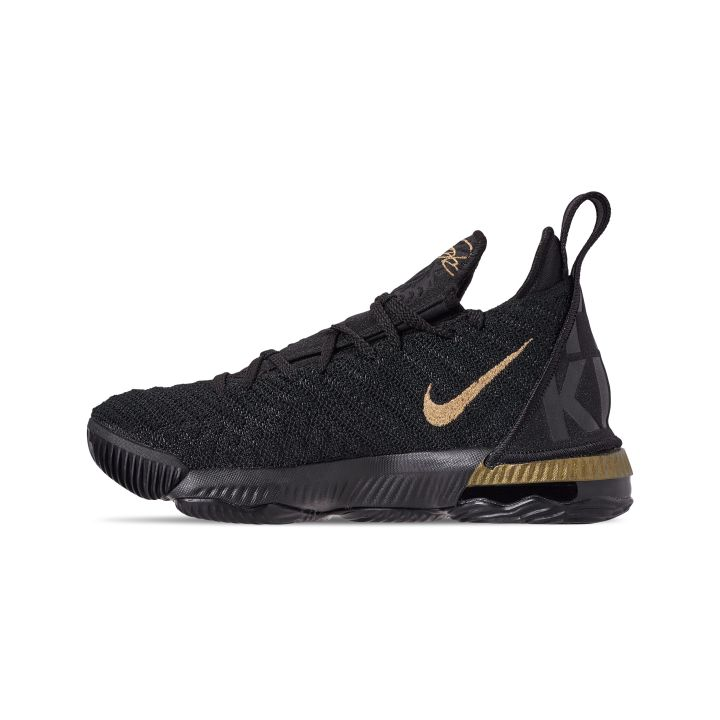 NIKE LEBRON 16 GS I'M KING BLACK : METALLIC GOLD 3