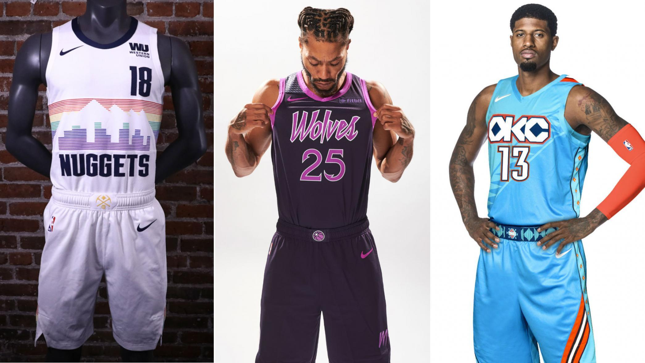 acea00cc045 New Nike NBA City Edition Uniforms for the Nuggets, Wolves, Thunder ...