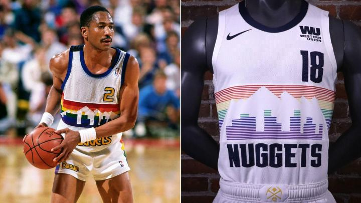 The new Nuggets uniform pays homage to the classic design originated in the  1981-82 season while modernizing it to fit the Mile High City s  advancement b4ec6b698