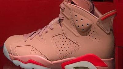 aleali may jordan 6 rust pink